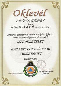 katasztrófavédelmi elismerés